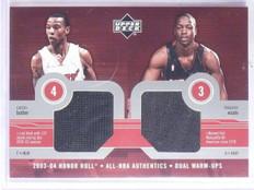 2003-04 Upper Deck Honor Roll Butler Dwyane Wade Rookie Jersey #CBDW *65973