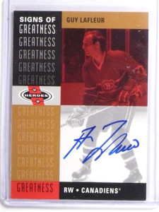 2000-01 Upper Deck Heroes Signs of Greatness Guy Lafleur Autograph #GL *59006