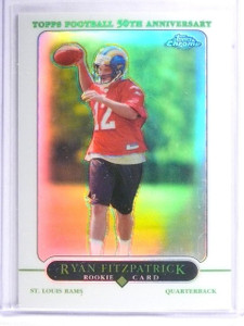2005 Topps Chrome Refractor Ryan Fitzpatrick Rookie RC #243 *62540