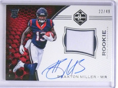 2016 Panini Limited Braxton Miller Rookie Patch Autograph #D22/49 #117 *64376