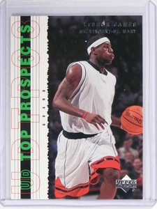 2003-04 UD Top Prospects LeBron James Rookie RC #55 *49734