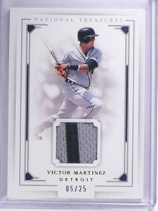 2016 Panini National Treasures Gold Victor Martinez Patch #D05/25 #127 *64358