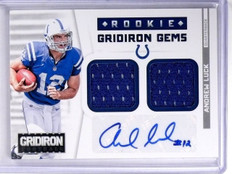 2002 Panini Gridiron Gems Andrew Luck autograph auto jersey rc #D01/49 *57715