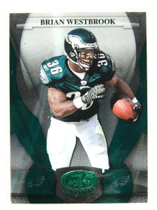 2008 Leaf Certified Mirror Emerald Brian Westbrook #D3/5 #108 *28632
