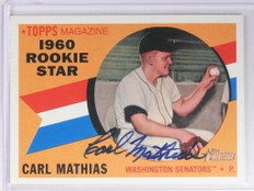 2009 Topps Heritage Real Ones Carl Mathias autograph auto #ROA-CM *49487