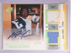 2005 UD SPx Winning Materials Adams Jones Rookie Jersey Autograph #D16/25 *66930