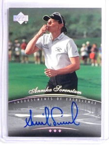 2004 SP Signature Endorsements of Excellence Annika Sorenstam Autograph *58974