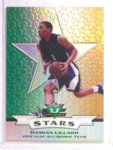 2012 Leaf Valiant Stars All-Rookie Team Green Damian Lillard Rookie #s5 *67080