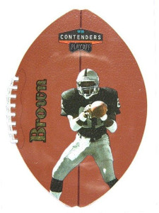 1998 Playoff Contenders Leather Gold Tim Brown #D34/60 #66 *27253