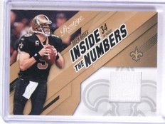 2010 Playoff Prestige Inside the Numbers Drew Brees Jersey #D184/250 #6 *66595