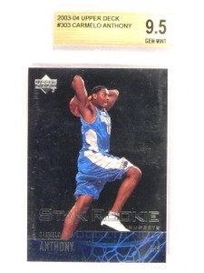 03-04 Upper Deck Carmelo Anthony rc rookie #303 BGS 9.5 GEM MINT *46022