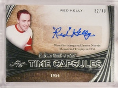 2015-16 Leaf Ultimate Time Capsule Red Kelly autograph auto #D32/40 *53295