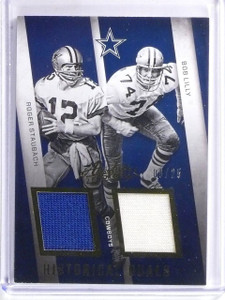 2016 Absolute Historical Duals Bob Lilly Roger Staubach Jersey #D6/25 *58983