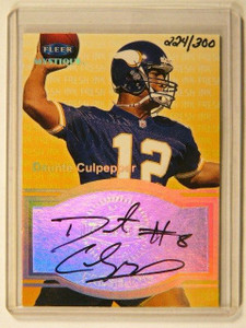 1999 Fleer Mystique Fresh Ink Daunte Culpepper auto autograph #D224/300 *41354