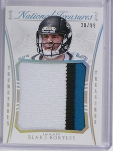2015 National Treasures Tremendous Relic Blake Bortles Jersey Patch #D38/99 *587
