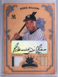 2004 Donruss Diamond Kings Bernie Williams autograph jersey bat #d 1/1  *57759