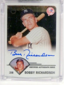 2003 Topps Retired Bobby Richardson autograph auto #TA-BR *48993