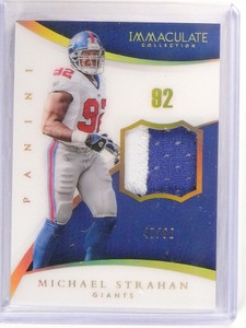 2015 Panini Immaculate Michael Strahan 2clr patch #D47/92 #81 *52968