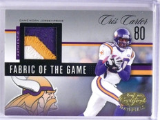 2006 Leaf Certified Fabric of the Game Cris Carter Patch #D21/25 #FOTG9 *64247