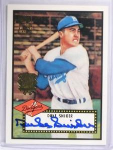 2002 Topps 1952 Reprints World Series Duke Snider autograph auto #DSA *57811