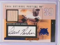 2004 Fleer National Pastime Dave Parker autograph auto bat #D7/29 *48896