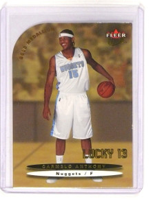 2003-04 Fleer Ultra Carmelo Anthony Lucky 13 Gold Medallion Rookie RC *45299