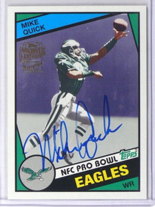 2013 Topps Archives Fan Favorites Mike Quick auto autograph #FFA-MQ *40044