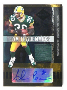 2004 Leaf Limited Team Trademarks Ahman Green auto autograph jersey #D48/50 *398