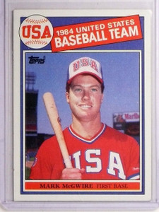 1985 Topps Mark McGwire Olympic Rookie RC #401 *67185