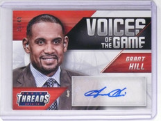 2014-15 Panini Threads Voices of the Game Grant Hill Autograph #D35/49 #18 *6570