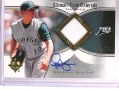 2007 Ultimate Collection Scott Kazmir Team Jersey Autograph #D07/10 #UTMSK *5553