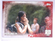 2016 The Walking Dead Season 5 Blood Red Parallel Feeling It #D1/1 #59  *61555