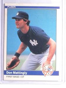 1984 Fleer Don Mattingly Rookie RC #131 EX *66085