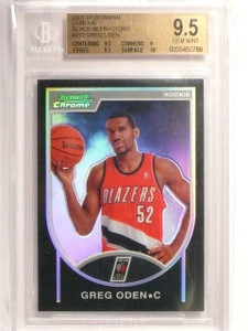 07-08 Bowman Chrome Black Refractor Greg Oden rc #D117/199 BGS 9.5 *45019