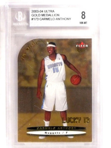2003-04 Ultra Gold Medallion Carmelo Anthony Rookie RC #173 BGS 8 NM-MT *66727