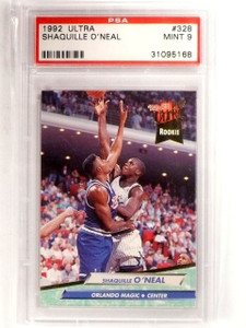 1992-93 Ultra Shaquille O'Neal Rookie RC #328 PSA 9 MINT *66721