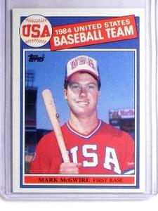 1985 Topps Mark McGwire XRC Rookie RC Olympics #401 *66065