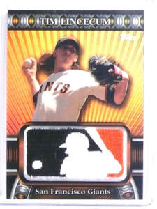 2010 Topps Manufactured MLB Logoman Patch Tim Lincecum #D05/50 #LM23 *60272