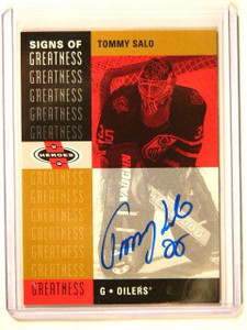 00-01 Upper Deck Heroes Signs Of Greatness Tommy Salo auto autograph #TS *41611