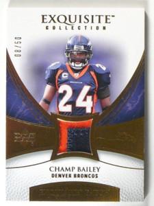 2007 Upper Deck Exquisite Champ Bailey 2clr patch #D08/50 *40220