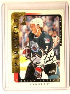 96-97 Pinnacle Be A Player Bap Brian Leetch auto autograph #55 *41454