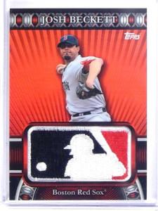 2010 Topps Manufactured MLB Logoman Patch Josh Beckett #D34/50 #LM74 *60261
