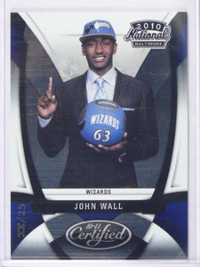 10-11 Certified Baltimore National John Wall rc rookie #DXX/25 #JW *37262