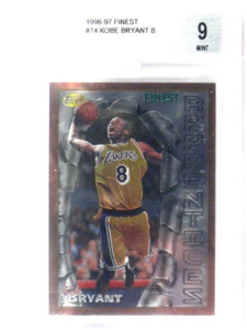 96-97 Topps Finest Kobe Bryant rc rookie #74 BGS 9 MINT *35931