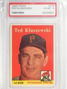 1958 Topps Ted Kluszewski #176 PSA 6 EX-MT *58964