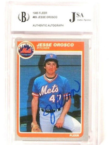 1985 Fleer Jesse Orosco autograph auto HAS Slabbed Authentic *46023