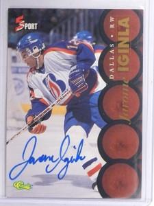 1995 Classic Five Sport Autographs Jarome Iginla Autograph auto #132  *60795