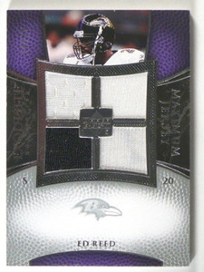 2007 Upper Deck Exquisite Maximum Jersey Ed Reed quad jersey #D29/75 *40209