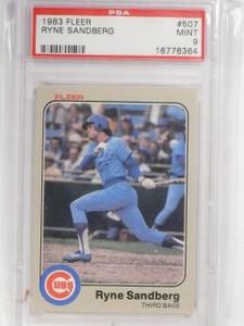 1983 Fleer Ryne Sandberg Rookie RC #507 PSA 9 Mint *58718