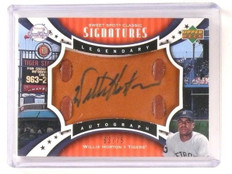 2007 UD Sweet Spot Willie Horton Leather Legendary Autograph Auto #d63/75 *44811